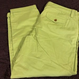 Lime green capris. Never worn. NWOT